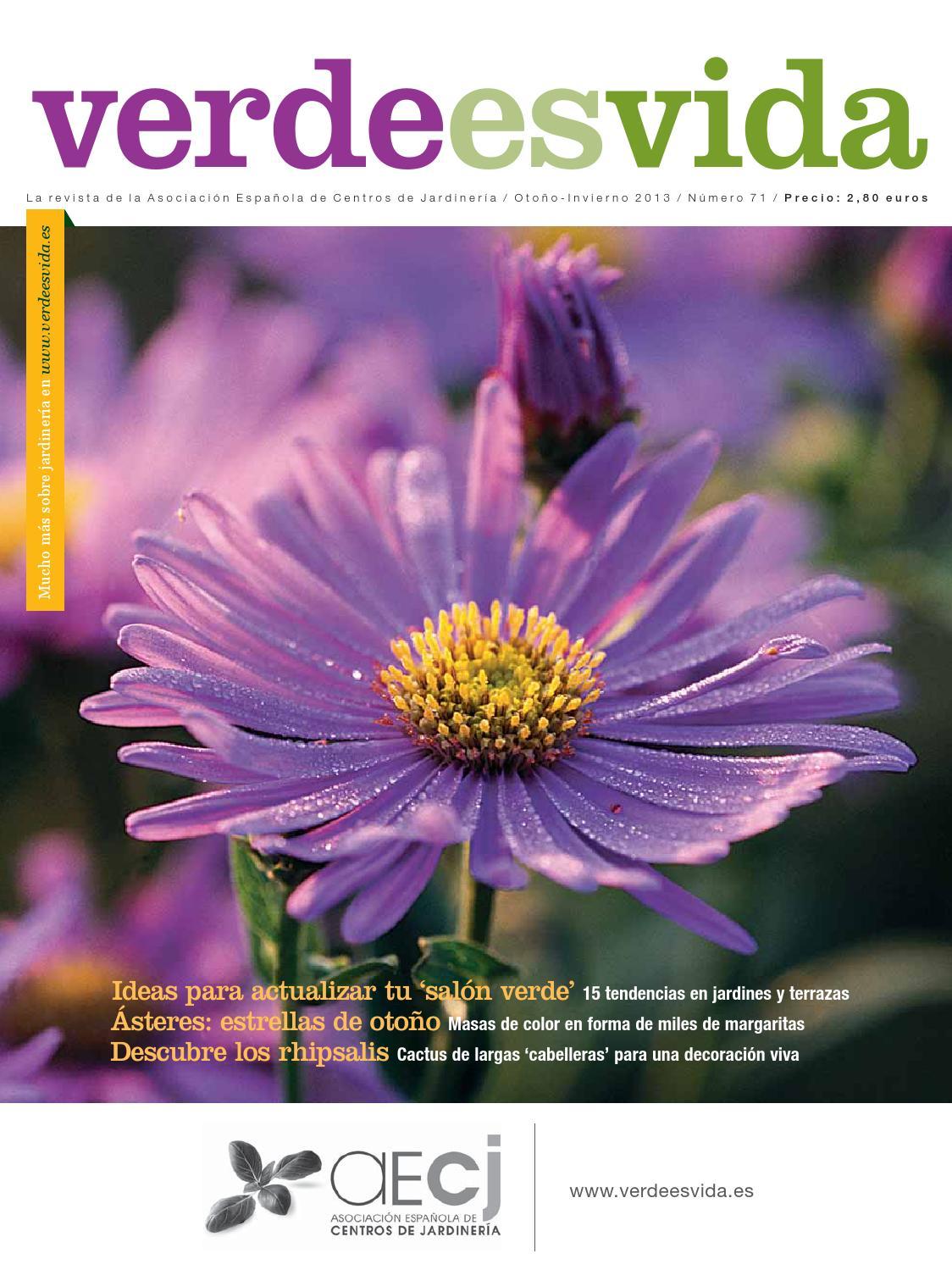 Revista verde es vida oto o invierno 2013 by hedbe centro for Centros de jardineria barcelona