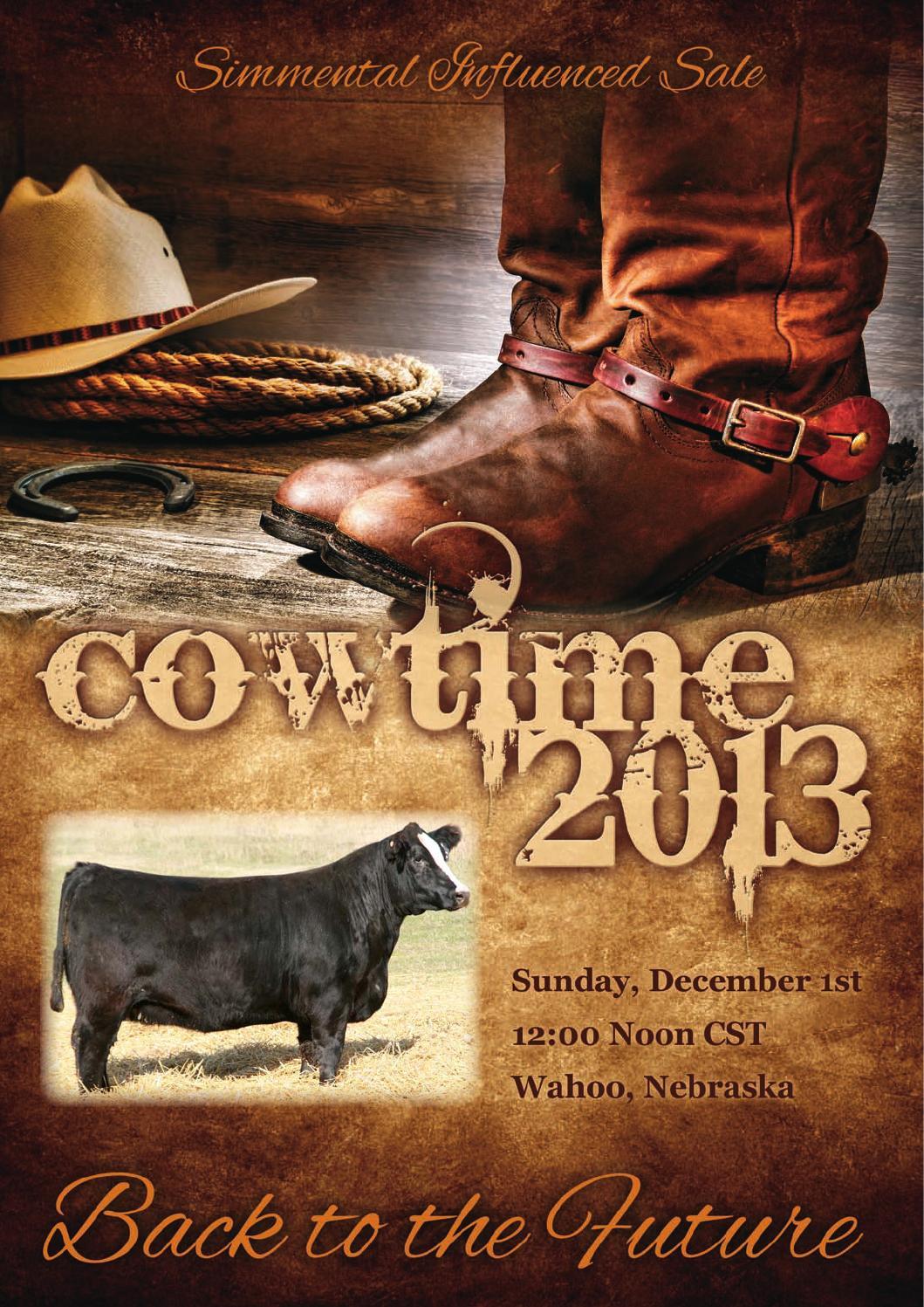 Cowtime Sale Catalog 2013 By Eberspacher Enterprises Issuu