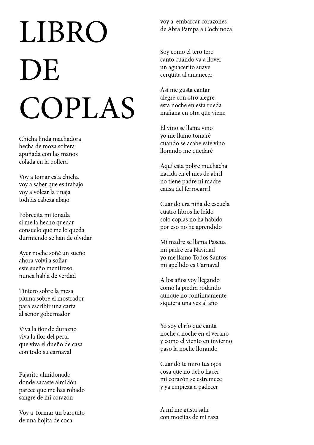Libro de coplas by Carlos Ramos - Issuu