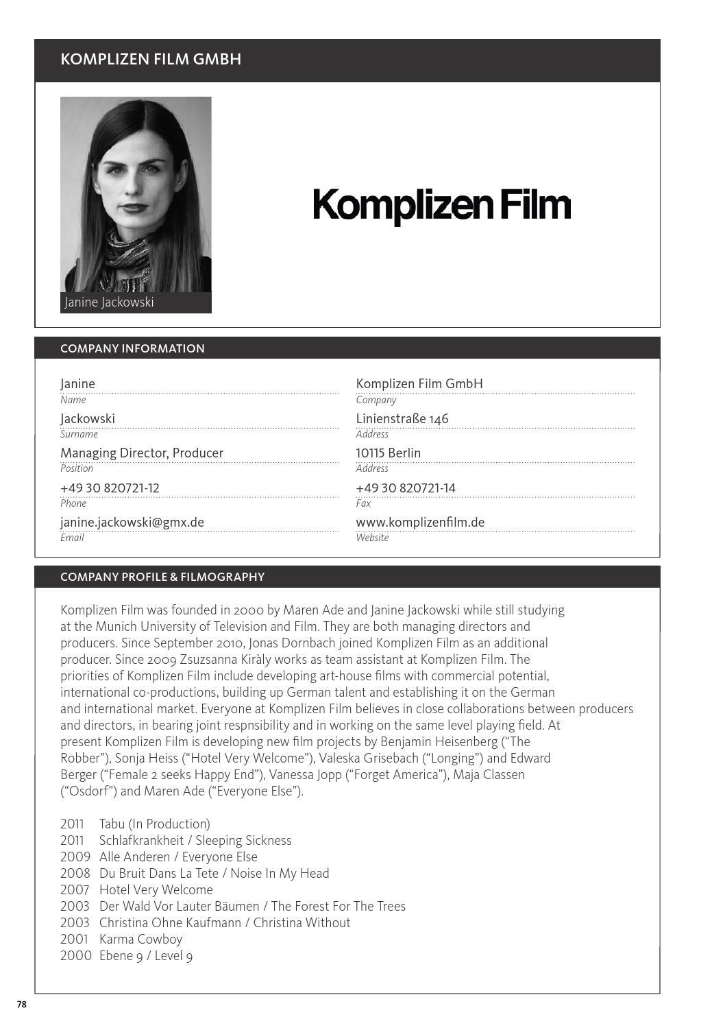 Alle Anderen 2009 incontri #1idm film fund & commission - issuu