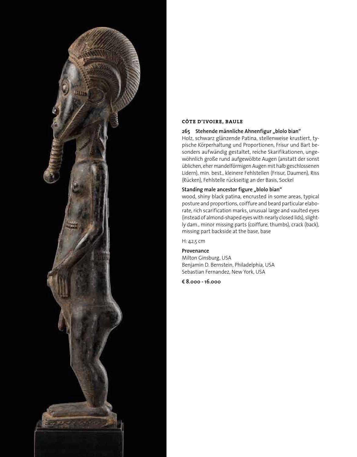 75th tribal art auction 30th Nov. 2013 at 2 pm by Tribal