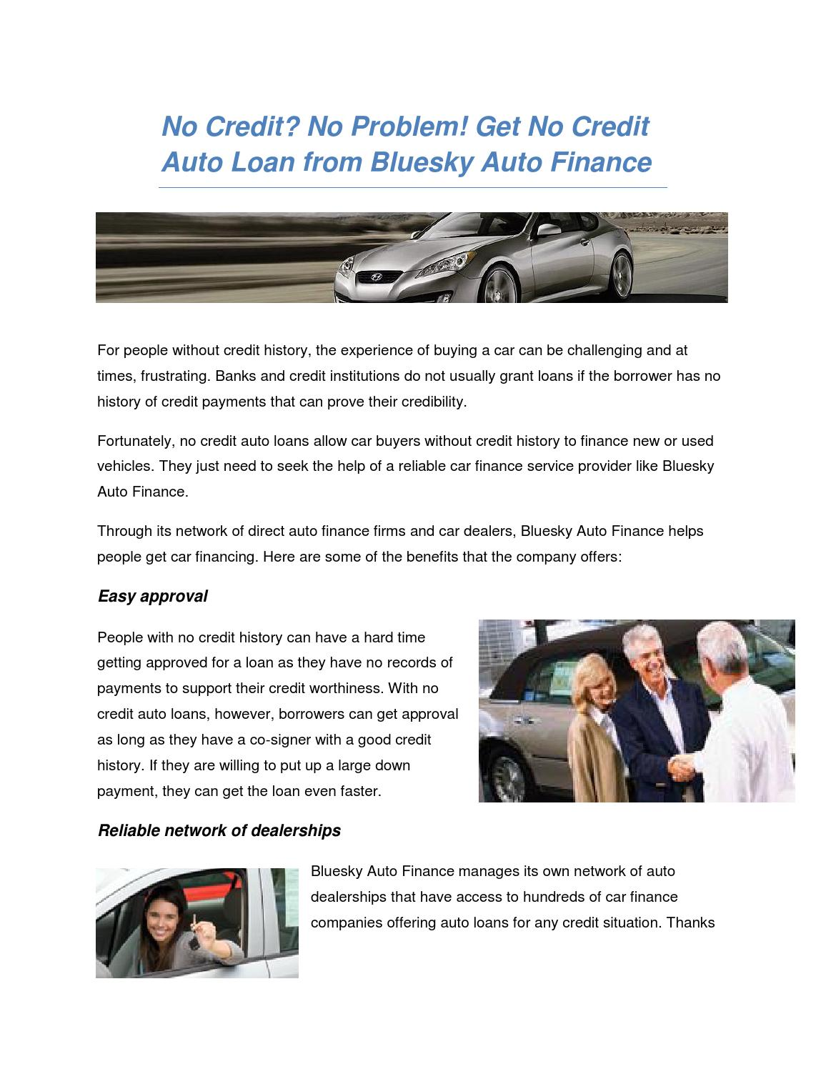Direct auto loans