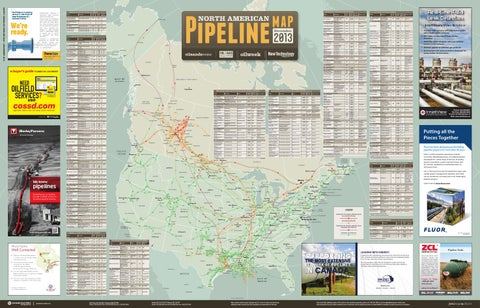 North American Pipeline Map December 2013 by JWN | Trusted
