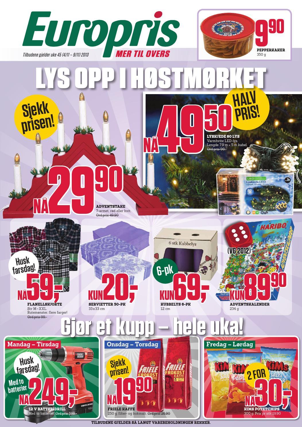 Europris Tom 9november By Postkassereklame No Issuu