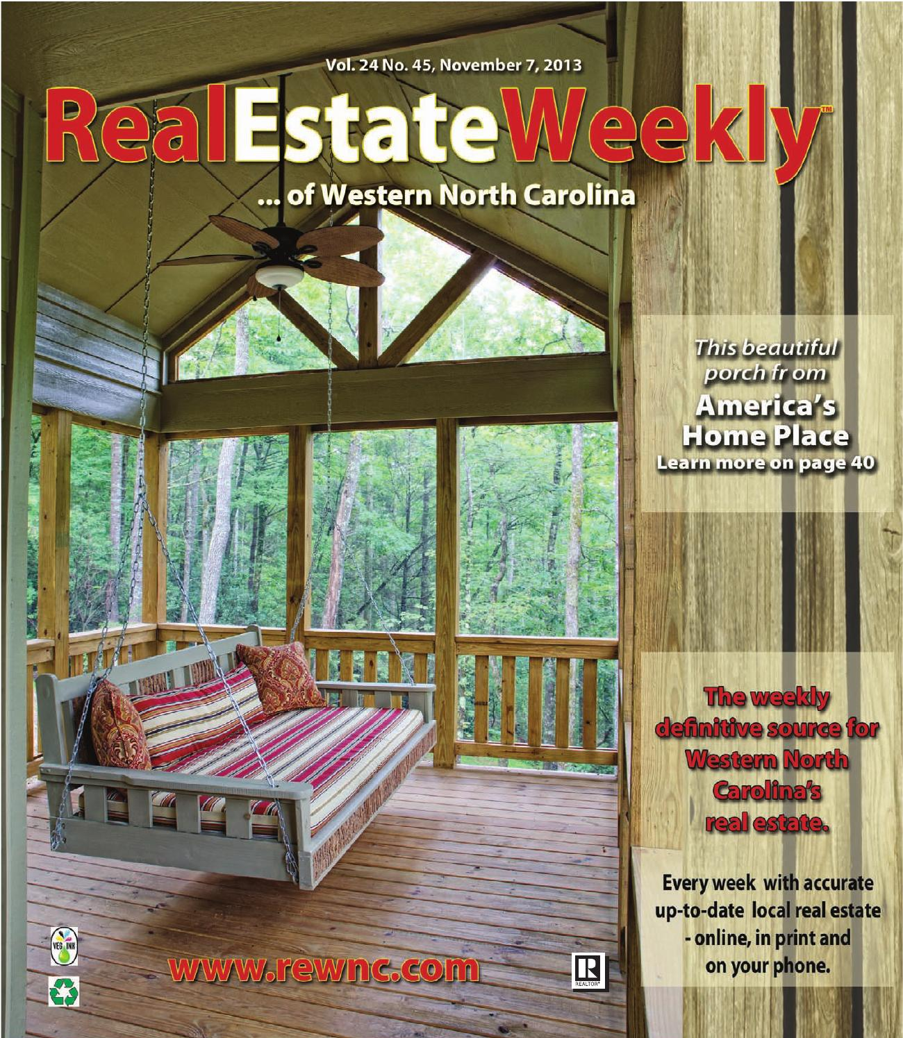 The Real Estate Weekly Vol  24 Issue 45 by WNC Homes & Real Estate