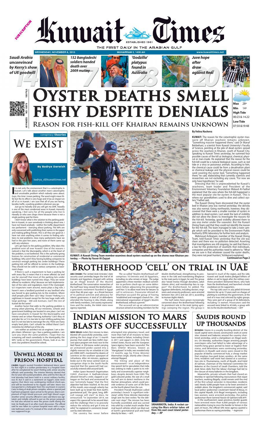 6th Nov 2013 by Kuwait Times - issuu