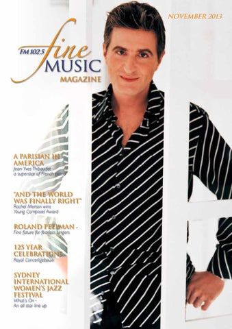 8220eb13529 Fine music magazine november 2013 by Editor - issuu
