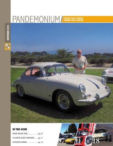 PCA-OCR Pandemonium - November 2013 by Porsche Club of America ... on porsche 924 interior, porsche carrera 4s, porsche 1960 models, porsche 904 road test, porsche c4s, porsche gt3, porsche gt2 rsr, porsche 2.7 rs engine, porsche cayman,