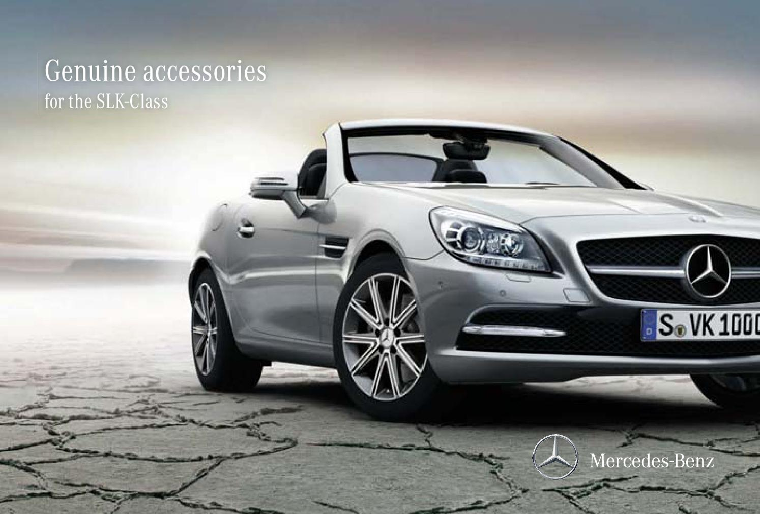 Genuine accessories for the slk class 172 2013 by for Mercedes benz slk accessories