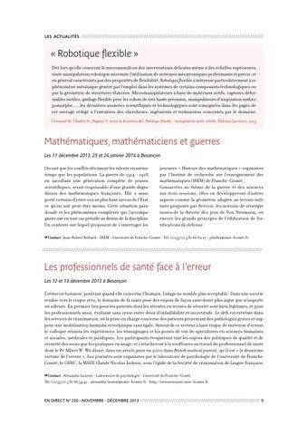 En direct n°250 by Université de Franche-Comté - issuu 8f271c08c38e