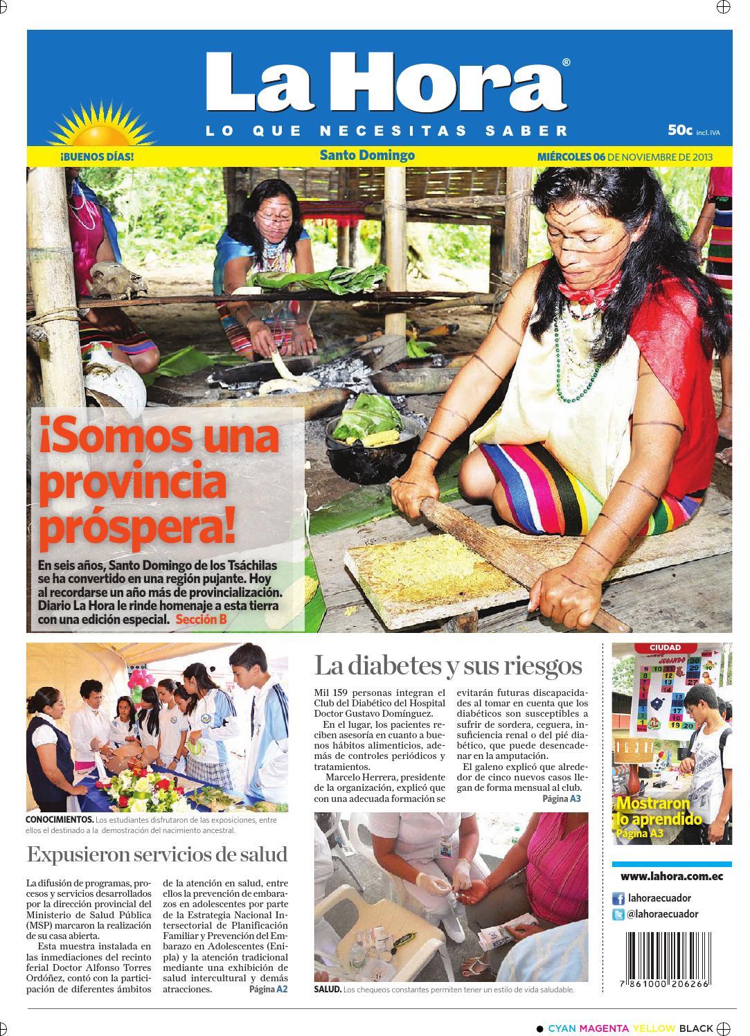 Edición impresa Santo Domingo del 06 de noviembre de 2013 by Diario La Hora  Ecuador - issuu 0e3761717eb2