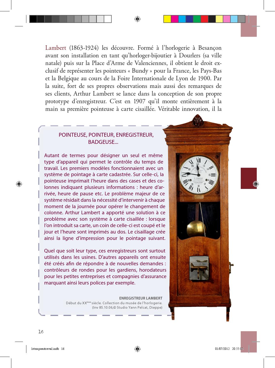 catalogue le temps au travail contr le et gestion by museehorlogerie issuu. Black Bedroom Furniture Sets. Home Design Ideas