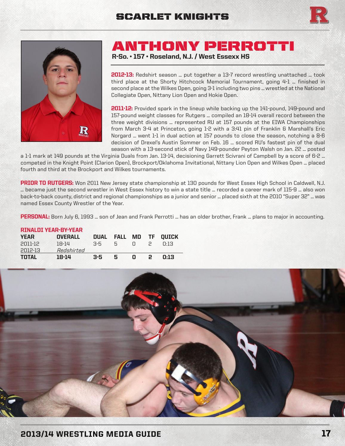 2013-14 Rutgers Wrestling Media Guide