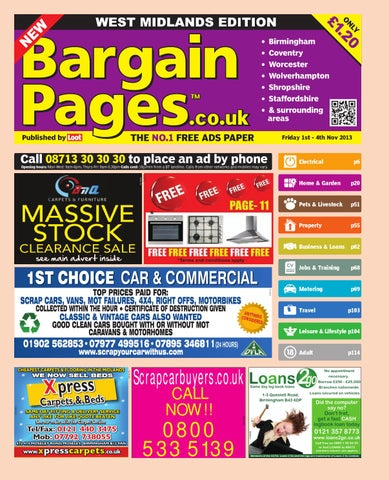 Bargain Pages Midlands 1st November 2013 By Loot