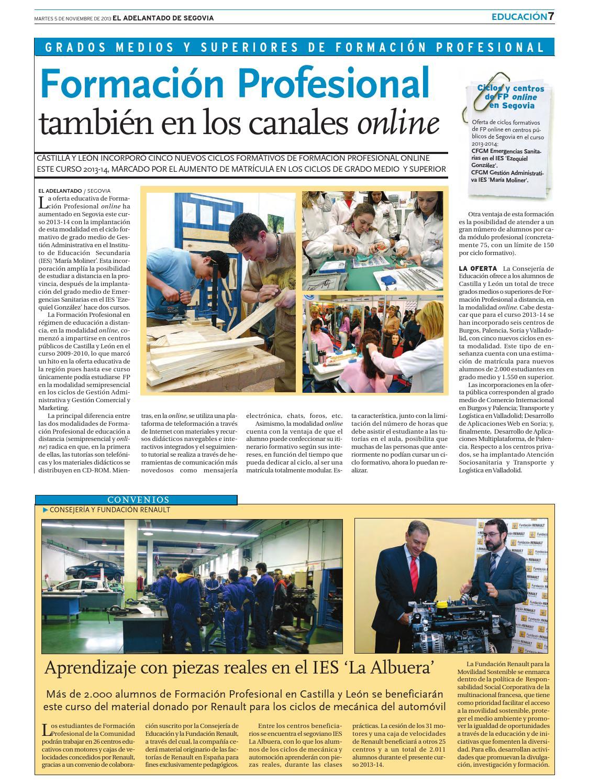 Educación En Castilla Y León By Adelantado De Segovia Issuu