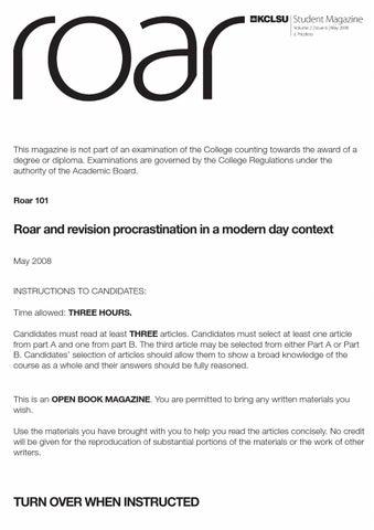 roar by kclsu student media issuu