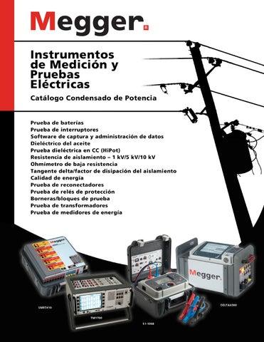 5 kV Megger 1002-534 Kit De Cables Para Prueba De Alta Tensi/ón