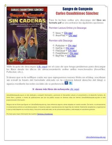 Sangre De Campeon Carlos Cuauhtemoc Sanchez Pdf