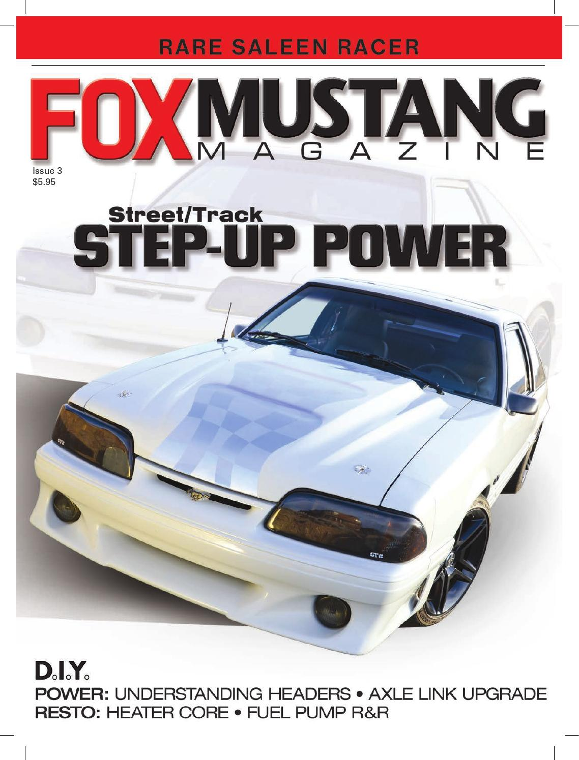 Fox Mustang Magazine Issue 3 By Issuu 1988 Fog Lights