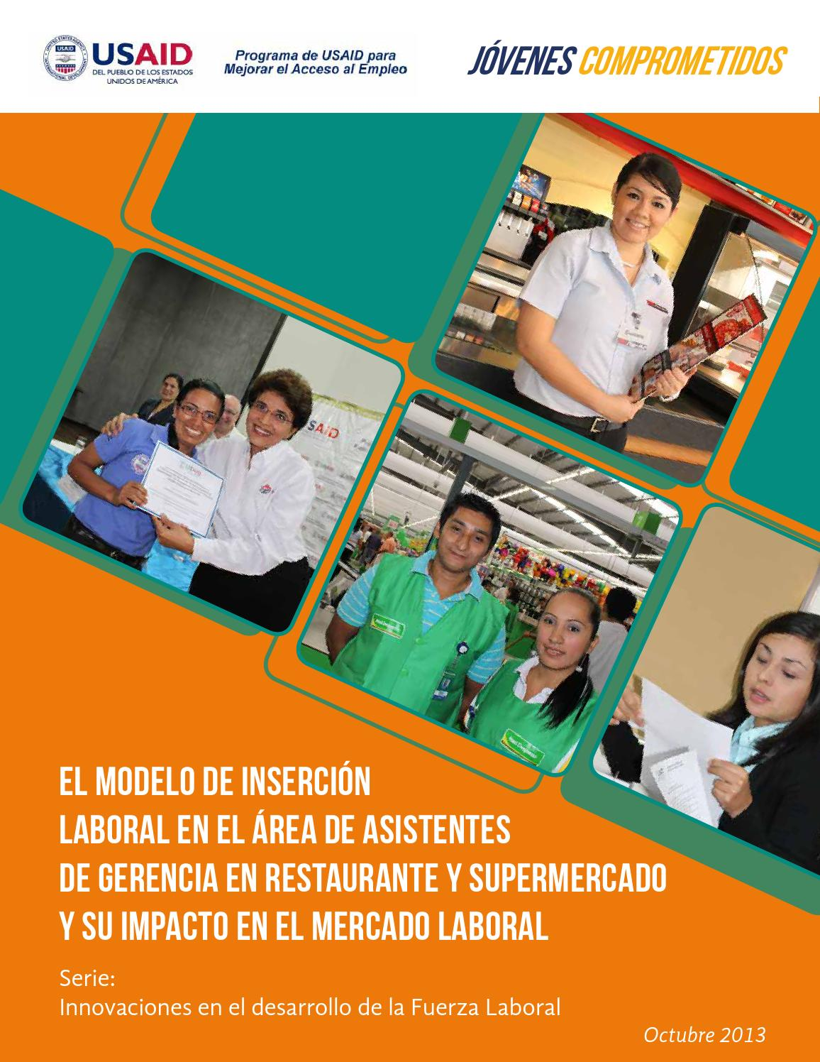 6 Modelo de inserción laboral de Gerentes de Restaurantes y ...
