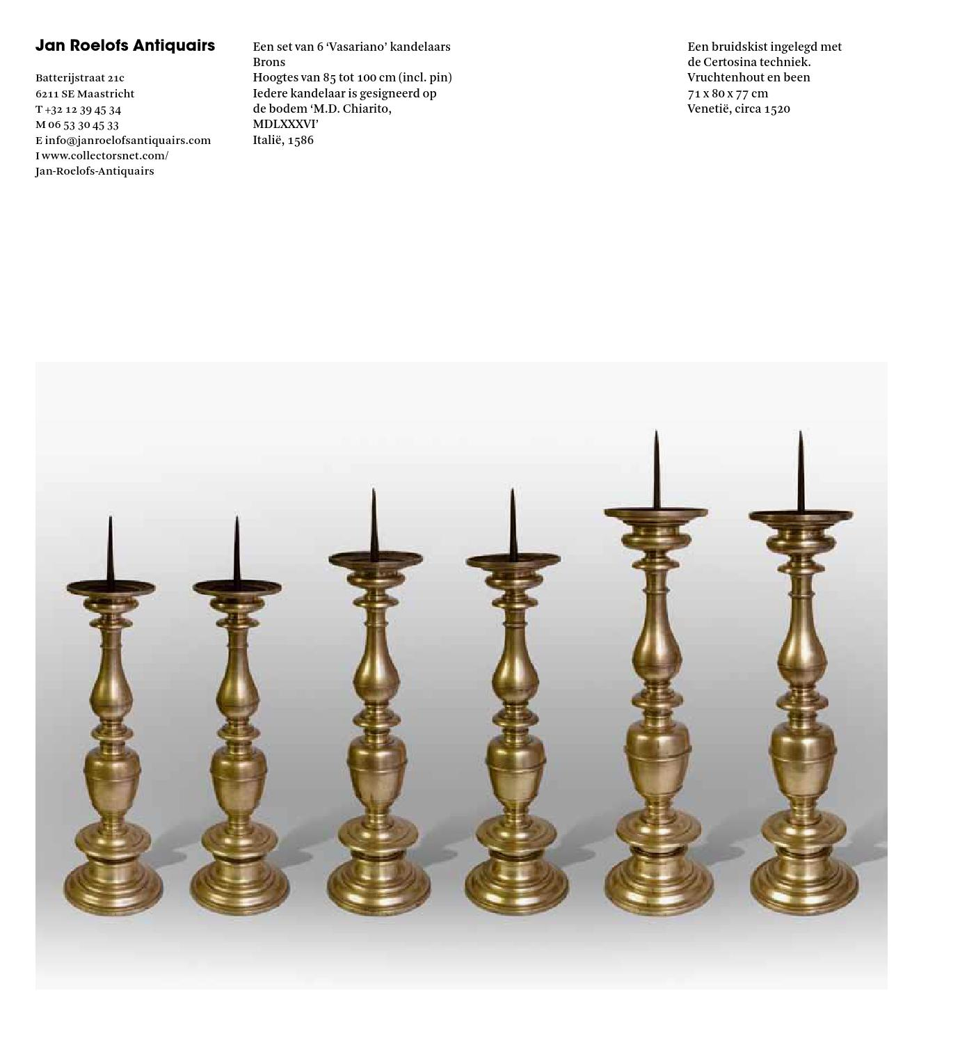 Jan Roelofs Antiquairs Maastricht.Pan Amsterdam 2013 By Artsolution Sprl Issuu