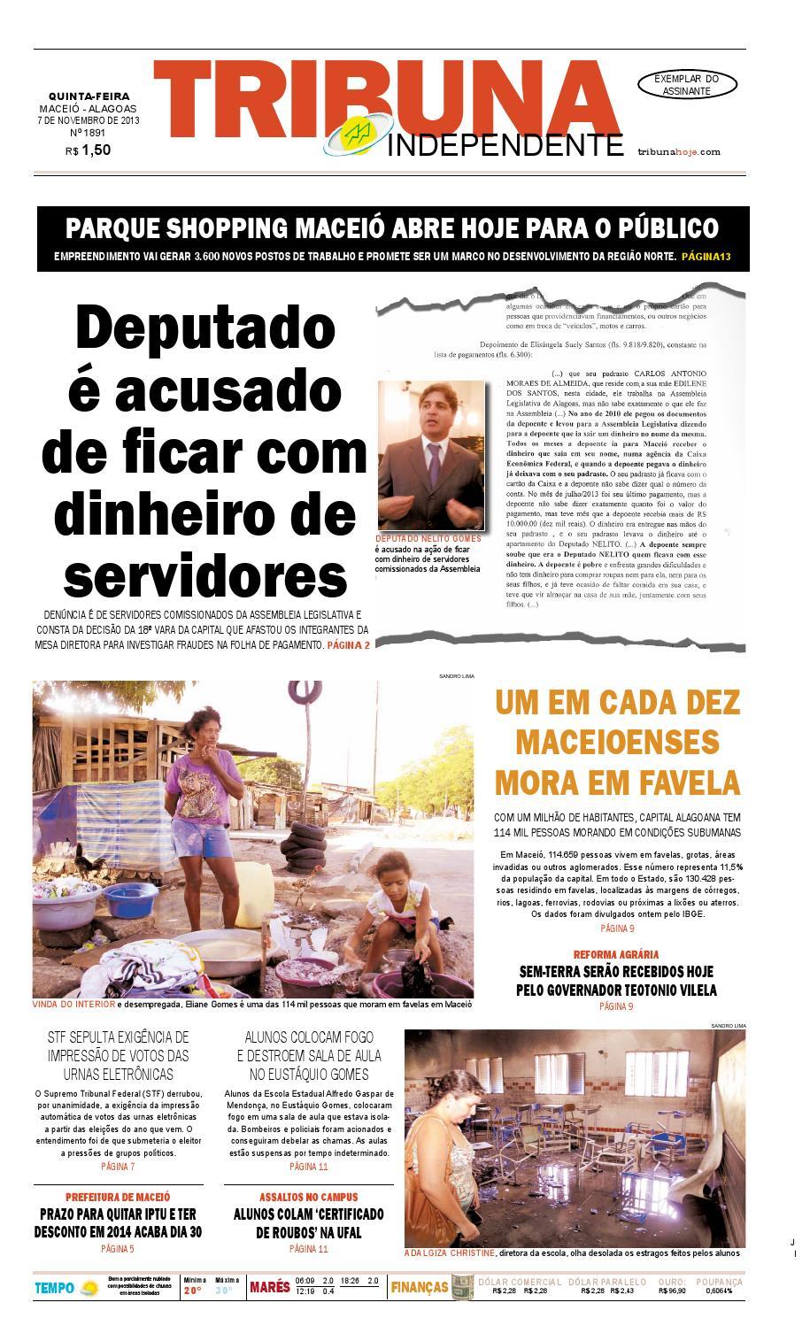 51785c6badc Edição número 1891 - 7 de novembro de 2013 by Tribuna Hoje - issuu
