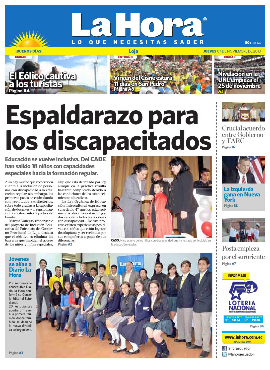 e87db75840cca Diario La Hora Loja 07 de Noviembre 2013 by Diario La Hora Ecuador - issuu