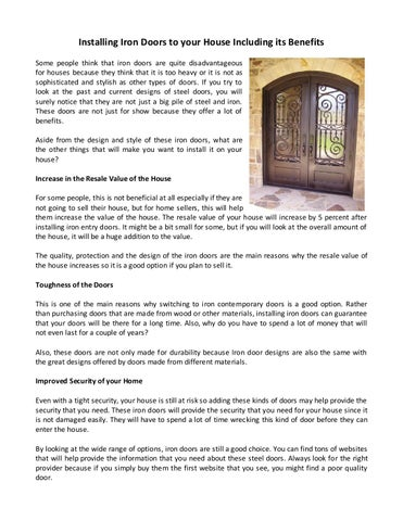 Installing Iron Doors To Your House Including Its Benefits Some People  Think That Iron Doors Are Quite Disadvantageous For Houses Because They  Think That It ...