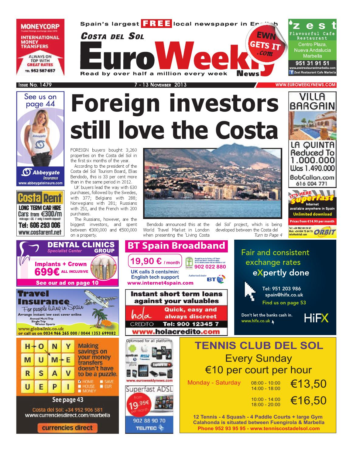Euro weekly news costa del sol 7 13 november 2013 issue 1479 by euro weekly news costa del sol 7 13 november 2013 issue 1479 by euro weekly news media sa issuu fandeluxe Image collections