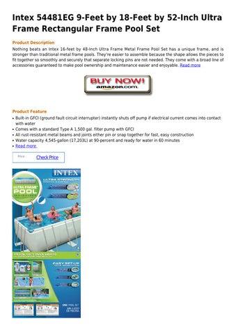 Intex 54481eg 9 feet by 18 feet by 52 inch ultra frame rectangular ...