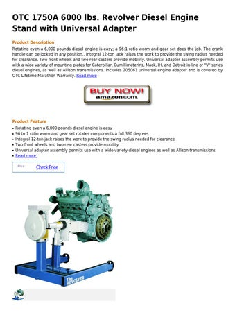 How Does A Diesel Engine Work >> Otc 1750a 6000 lbs revolver diesel engine stand with ...