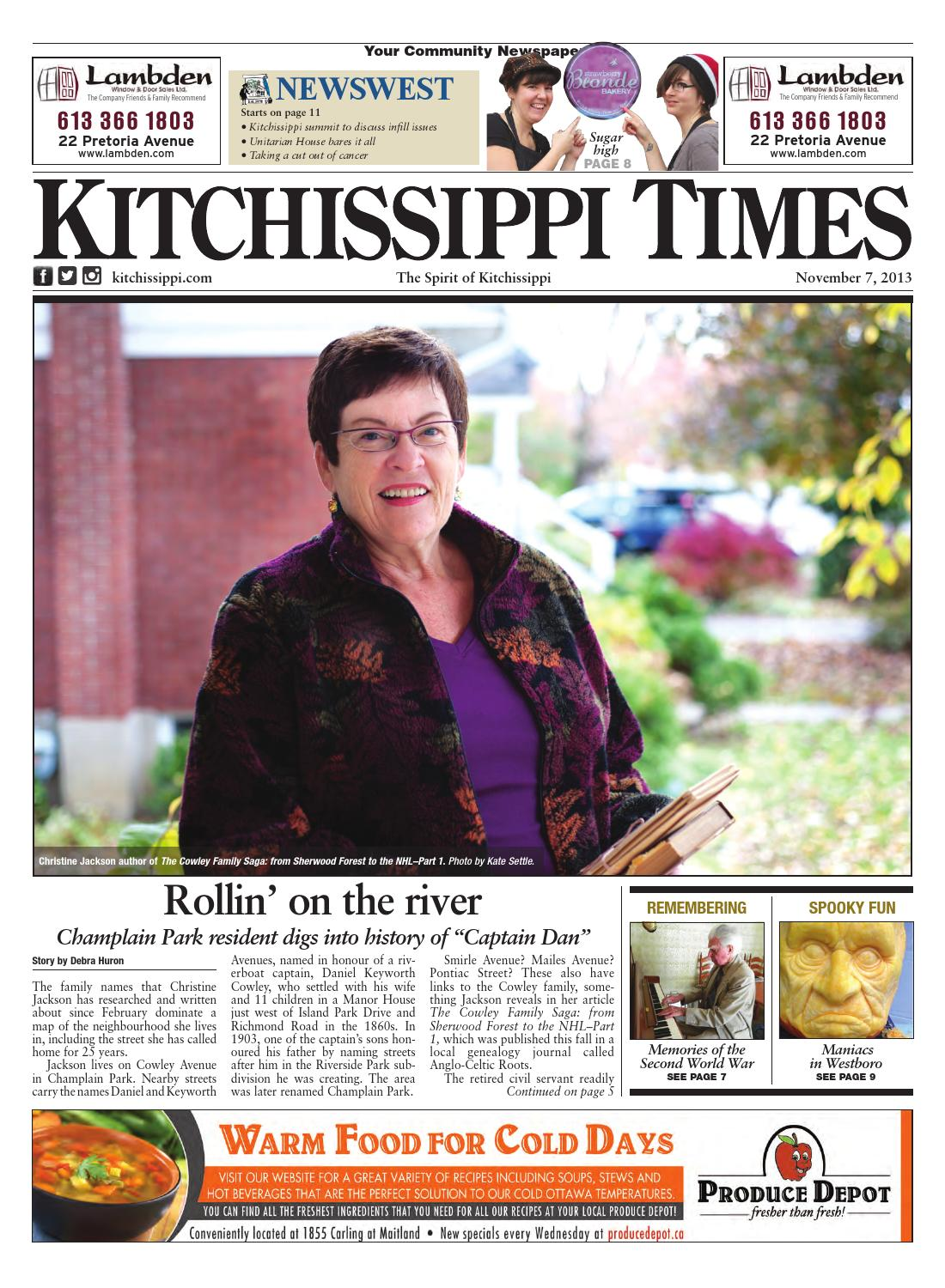 Kitchissippi Times November 7 2013 By Great River Media Inc Issuu