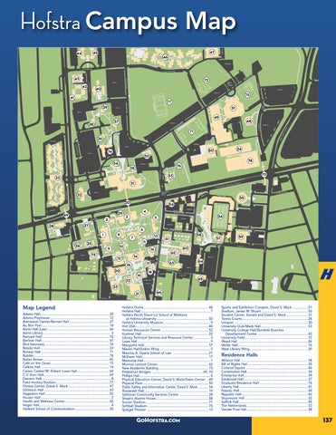 Hofstra University Campus Map | Park Map