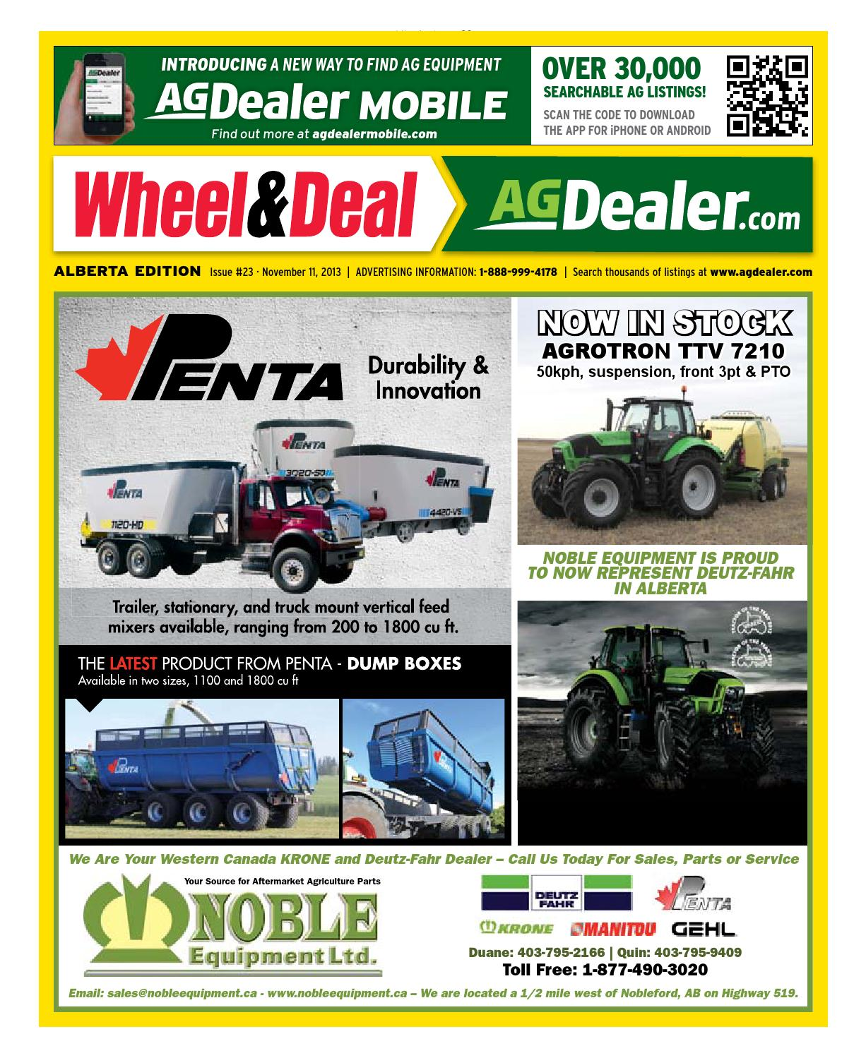 Wheel & Deal Alberta, November 11, 2013 by Farm Business Communications  - issuu