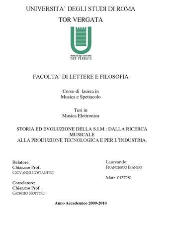 Tesi di Laurea di Francesco Bianco by Federazione Cemat - issuu 157bce781152