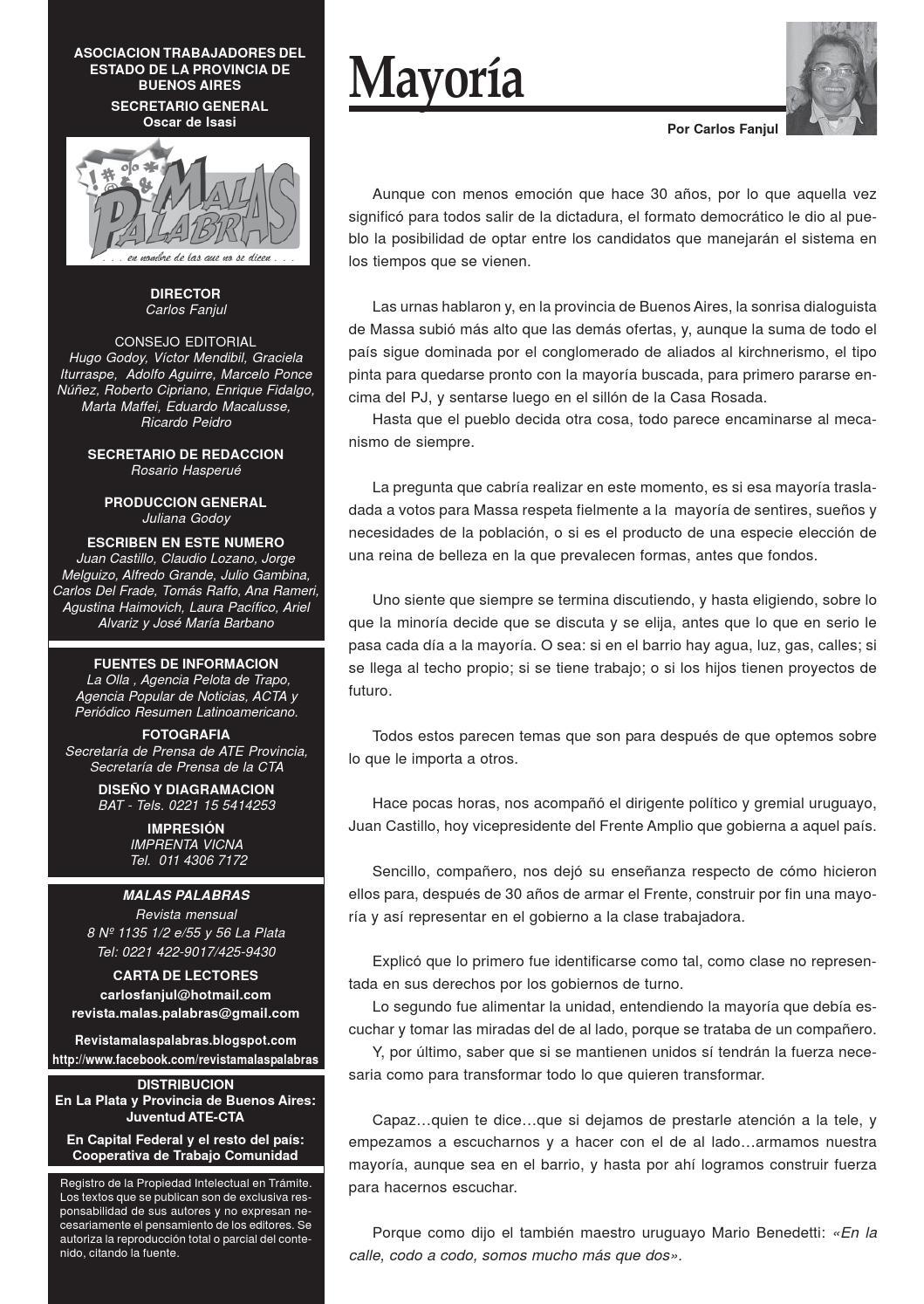 Malas palabras nro 22 by Revista Malas Palabras - issuu