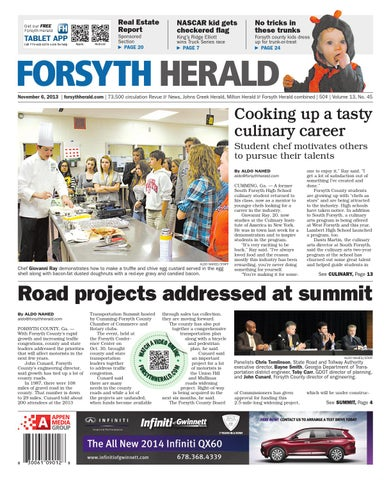 forsyth herald november 6 2013 by appen media group issuu rh issuu com 8 Round for Dining Room Table 8 Round for Dining Room Table