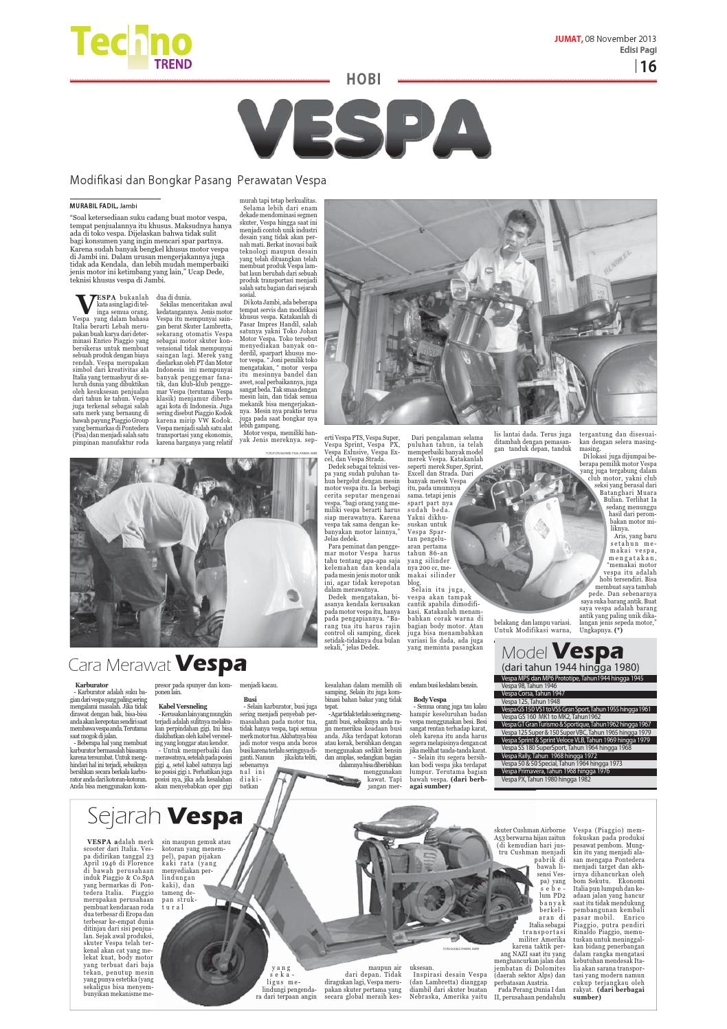 Modifikasi vespa super apps directories - Harian Jambi Edisi Jumat 8 November 2013 Pagi By Harian Jambi Issuu