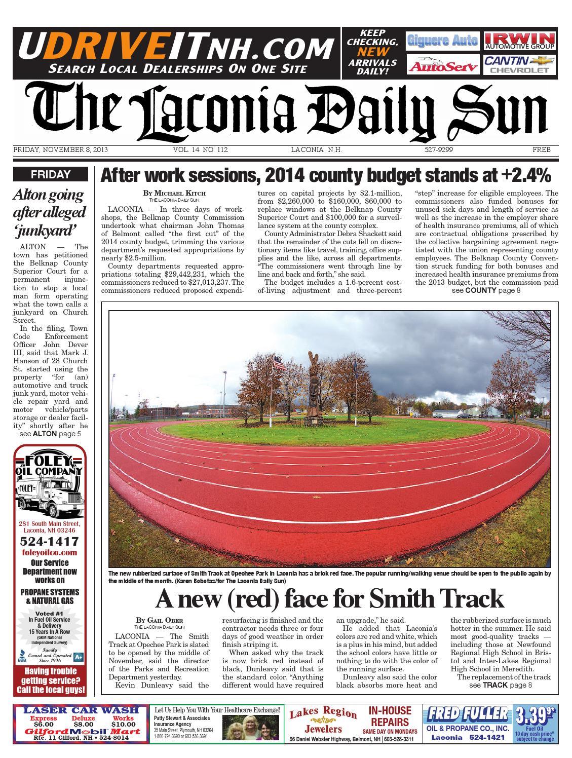 The Laconia Daily Sun November 8 2013 By