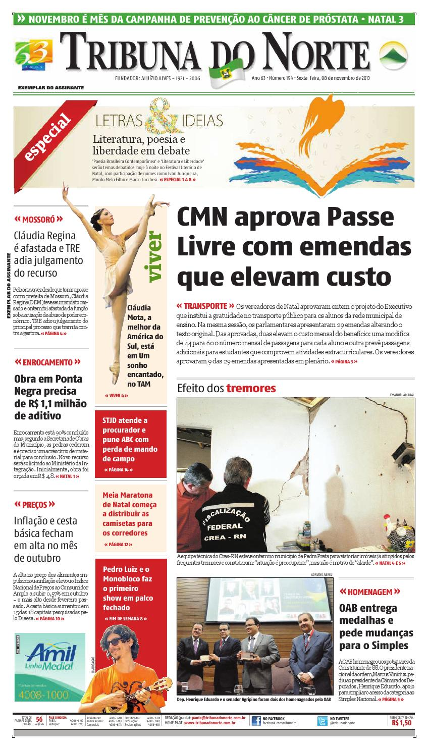 Tribuna do Norte - 08 11 2013 by Empresa Jornalística Tribuna do Norte Ltda  - issuu 7116f23ae39a7