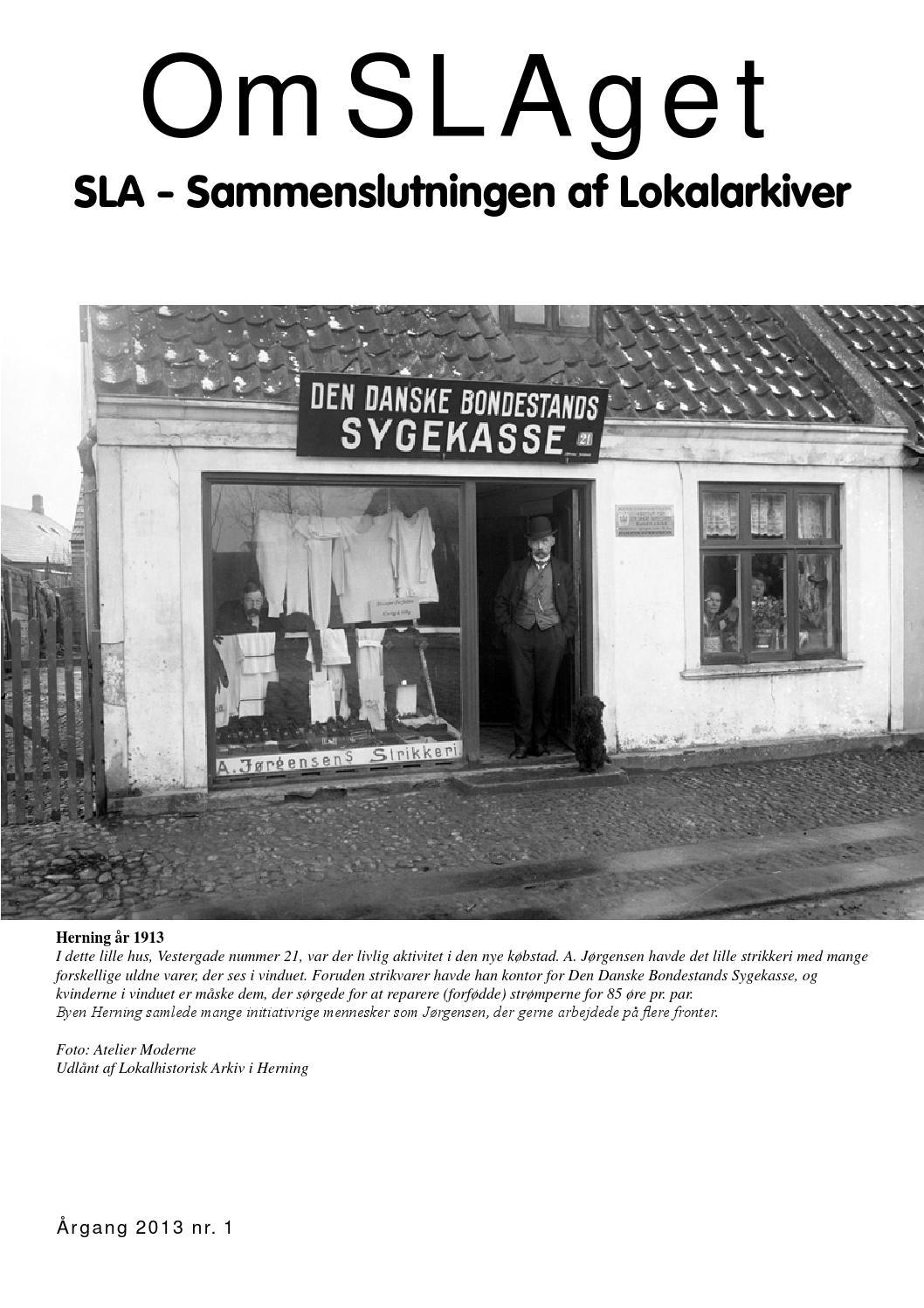 112d84acaea OmSLAget 1 - 2013 by Sammenslutningen af Lokalarkiver - issuu