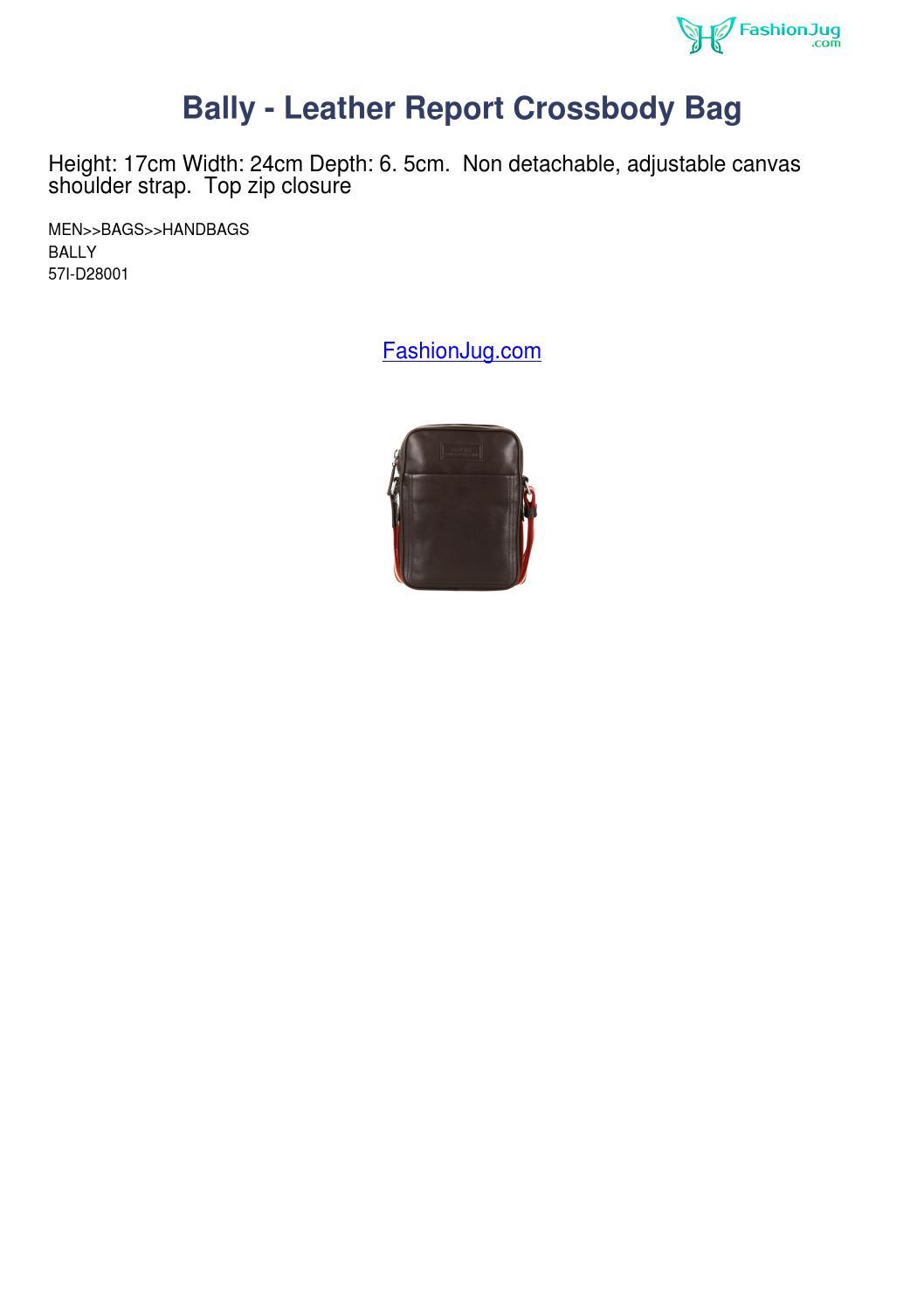 telescopio Biblioteca troncal su  Bally leather report crossbody bag fashionjug review 2261 by cakertiese -  issuu