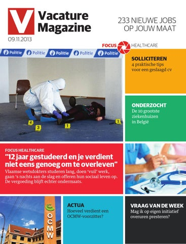 Vacature Magazine 09 11 2013 By Jobs Careers Cv Issuu