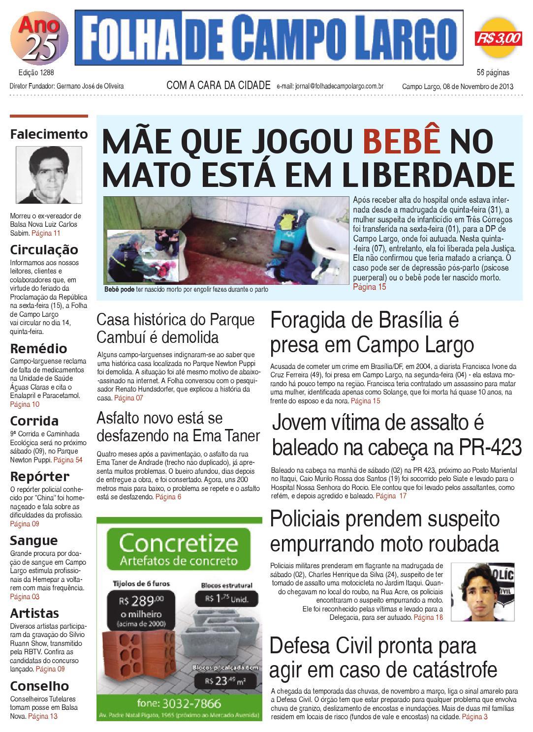 becdb2edef Folha de Campo Largo by Folha de Campo Largo - issuu