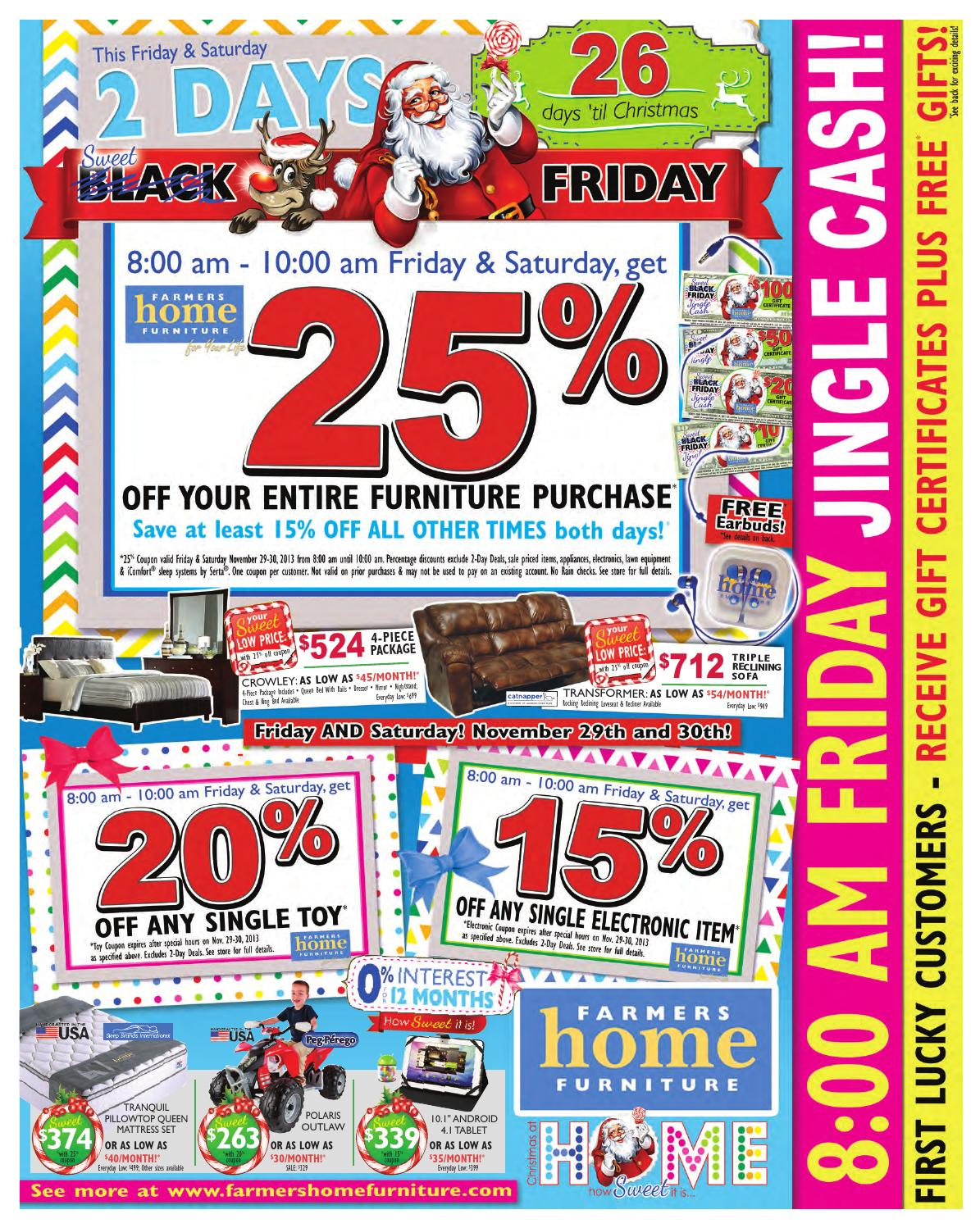 Black Friday By Farmers Home Furniture Issuu