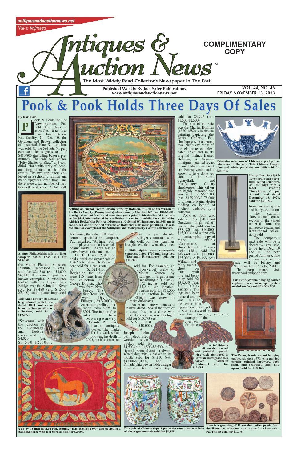 Antiques & Auction News 111513 by Antiques & Auction News - issuu