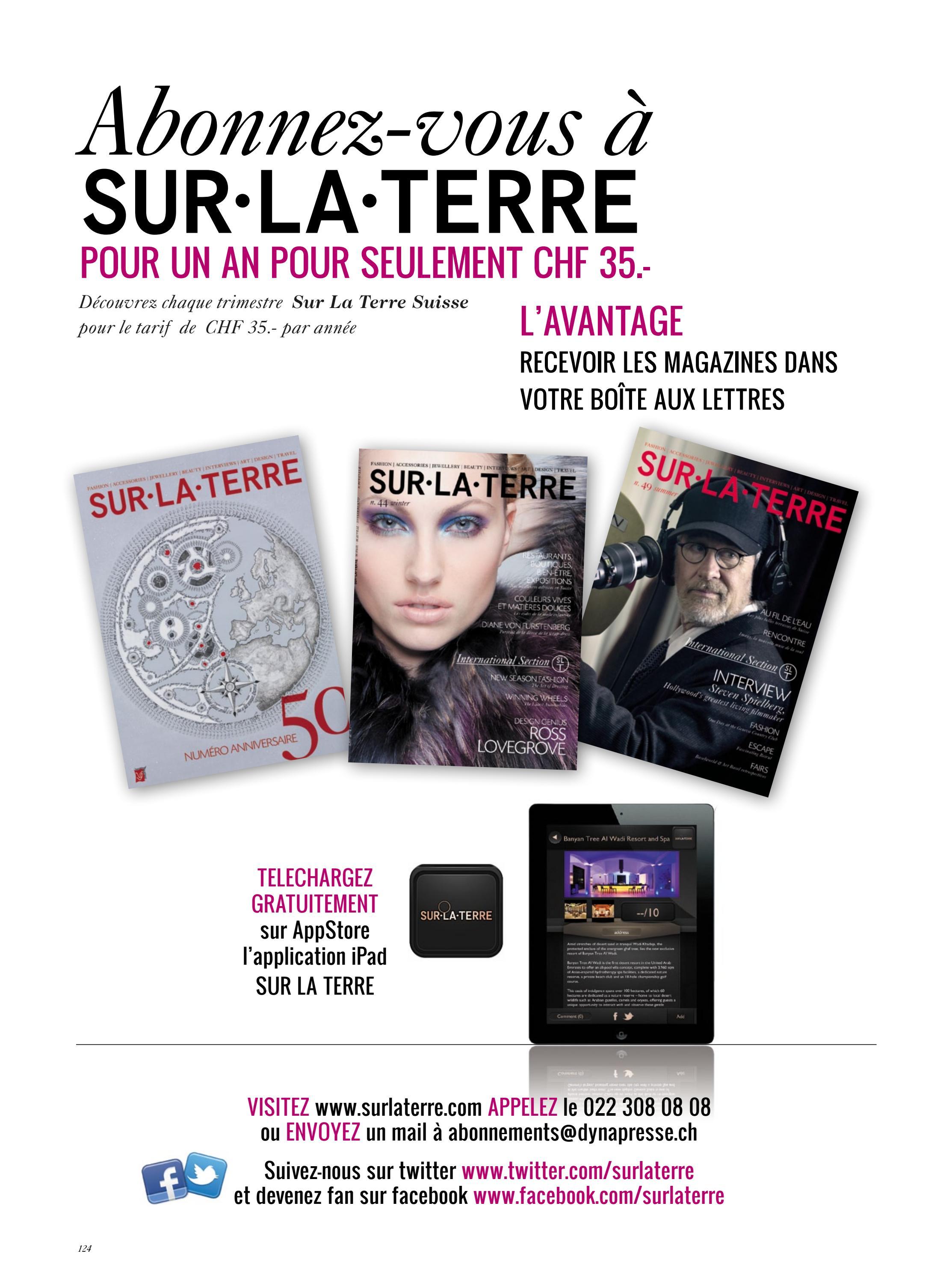SUR LA TERRE Switzerland no50 by SUR LA TERRE Magazines issuu