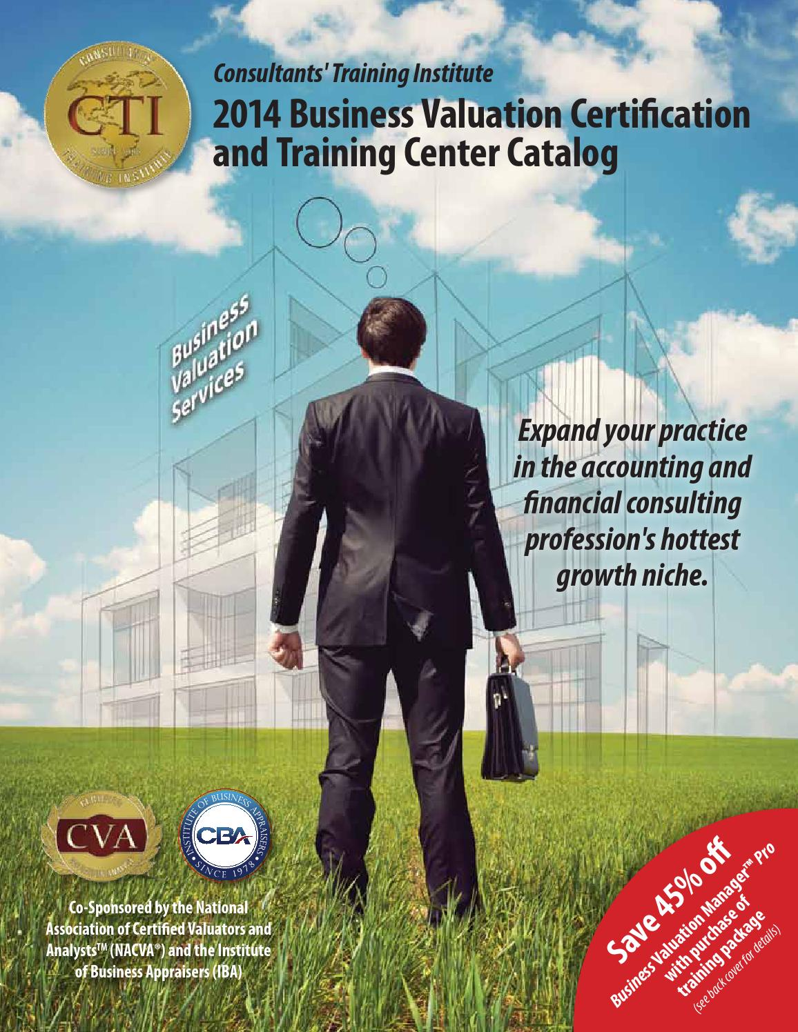 2014 business valuation training center catalog by national 2014 business valuation training center catalog by national association of certified valuators and analysts issuu 1betcityfo Choice Image