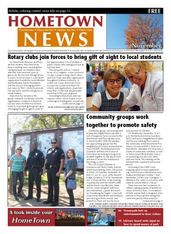 November edition of the Westchester/Playa HomeTown News by