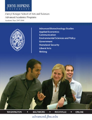 2007 2008 Academic Catalog Advanced Academic Programs By Johns
